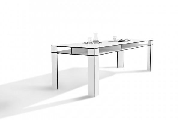 Großer Esstisch aus HPL mit Ablagefach Kitchen & Friends 10